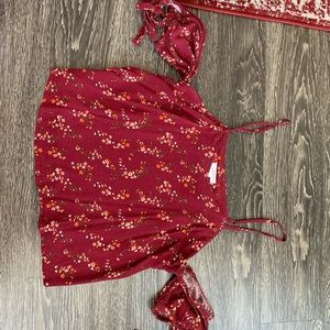 Floral Maroon top - Small